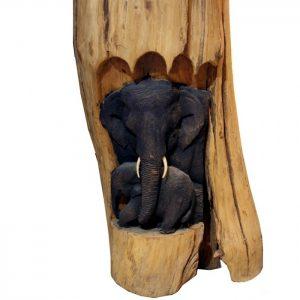 резба слон тиково дърво