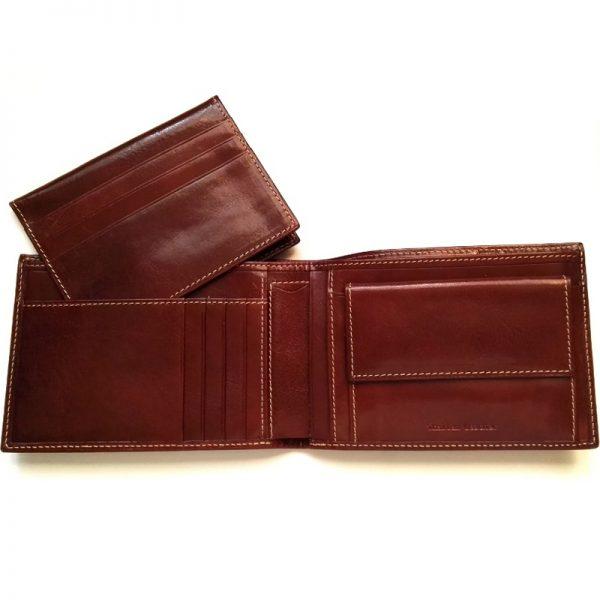 Солиден мъжки портфейл от естествена кожа