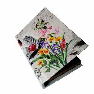 кутия с цветя кожена