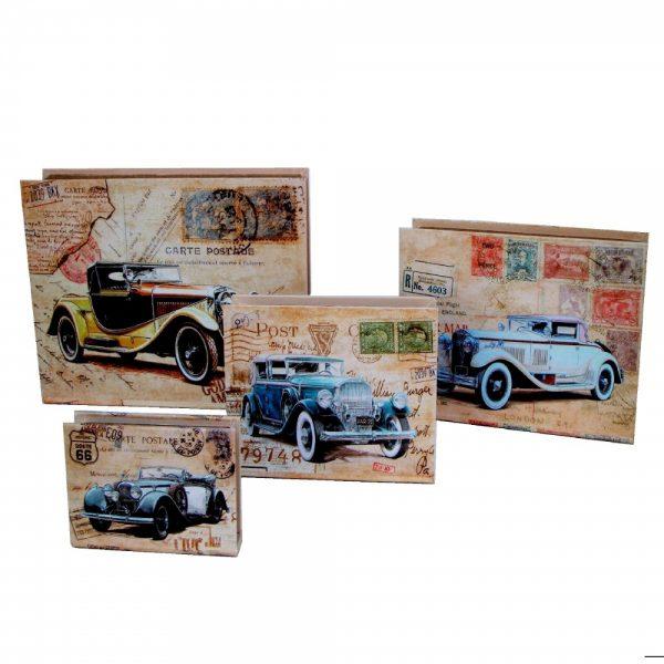 кутии с ретро кола цветни