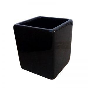 кашпа за цветя черна