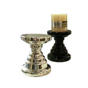 поставка за свещ черна или сребърна