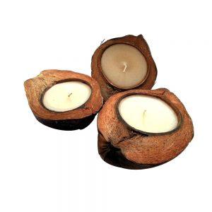 свещи в кокос с аромат