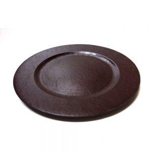 тъмнокафява кожена чиния