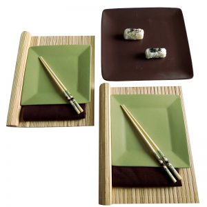суши комплект Панда грийн браун 2