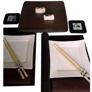 комплект за суши Панда уайт ин блек 2