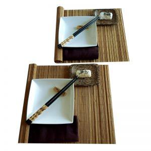 комплект за суши с кокосово плато за двама