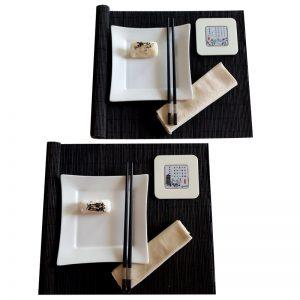 комплект за суши блек енд уайт