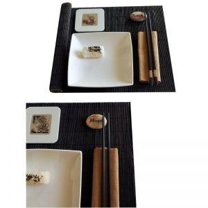 комплект за суши с камъче за двама