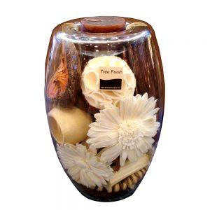 свещник от стъкло с цветя 5573-0